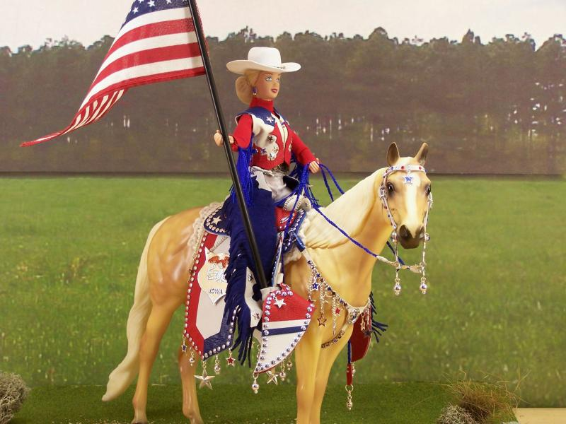 Rodeo Queen doll on horse